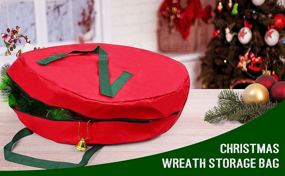 Christmas wreath bag
