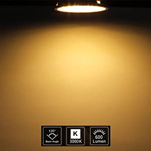 Uplight 5 5 W Dimmable Gu10 Led Bulb Warm White 3000 K Replaces 50 60 W Halogen Lamps 600 Lm Led Light Bulb Ra85 120 Beam Angle Pack Of 5 Beleuchtung