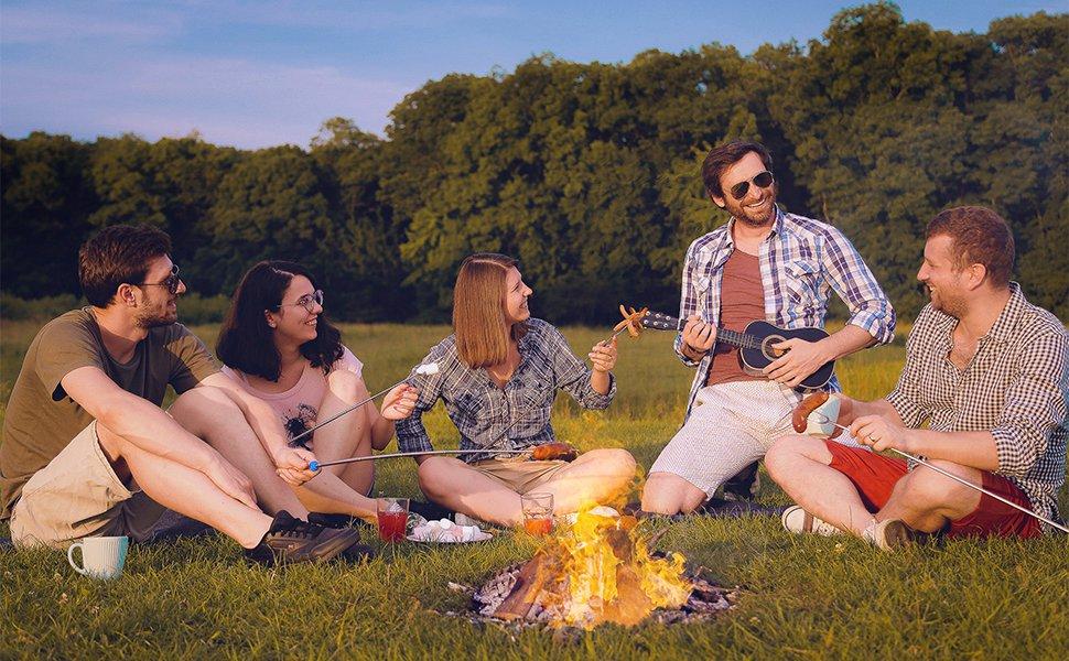 marshmallow campfire roasting sticks
