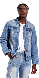 Jean jacket for men denim jacket mens jean jackets for men jean jacket light Blue jean jacket men