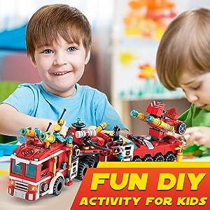 Firetruck STEM Toys Building Blocks