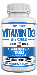 Simply Potent Vitamin D3+K2