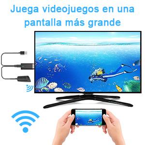 WiFi Display Dongle 4K, DIWUER 5G / 2.4G HDMI Adaptador De Pantalla InaláMbrico Receptor para Android / iPhone / iPad / Windows / Miracast / Mac OS a TV / Proyector / Monitor: Amazon.es: Electrónica