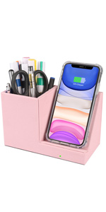 15W Fast Wireless Charger Desk Organizer Charging Storage iPhone 11 Xs MAX XR Samsung S10 9 8 Holder