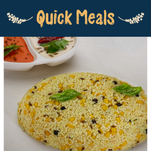 Millet - Quick Meals