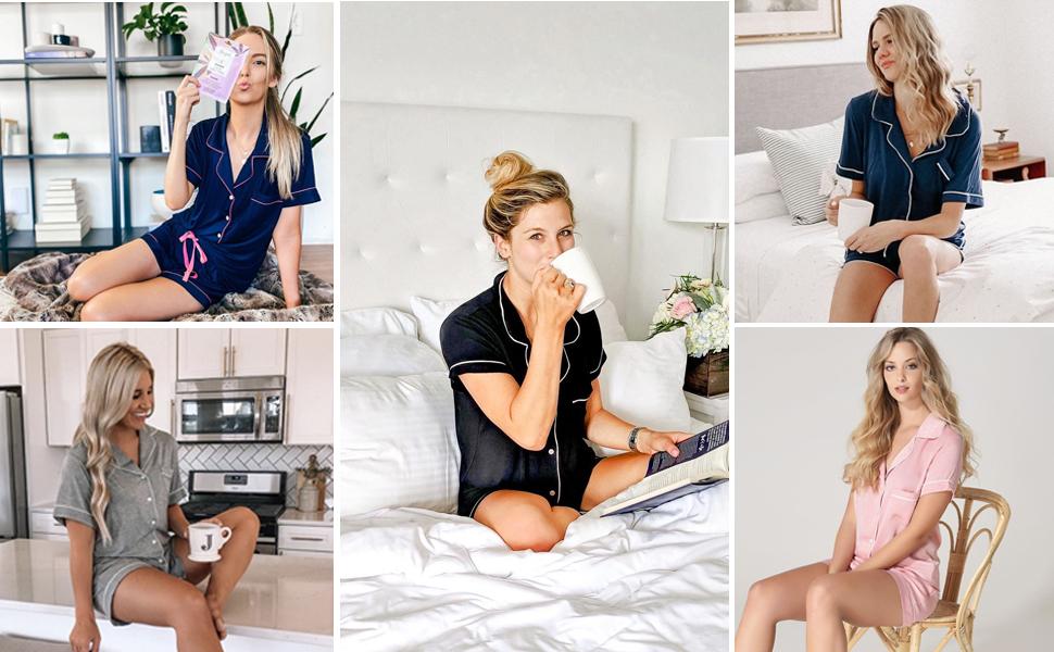 pajama set short for women