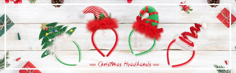 4pcs Christmas Headbands