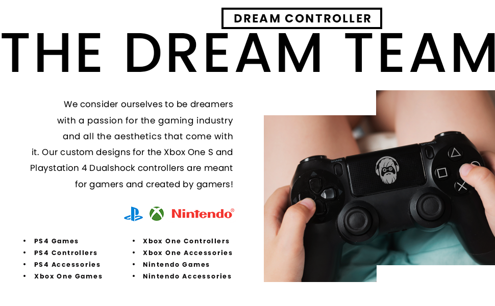DreamController Custom Skin Designs Dual Shock Wireless Controller for Playstation 4