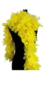 Ws/&Wt 2 Yards 150g Large Fluffy Turkey Ruff Feather Boa for Adult Halloween Cosplay Costume Accessory Holiday Decors-Turquoise Blue