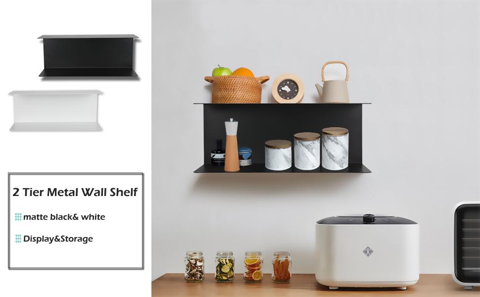 2 Tier Metal Wall Shelf