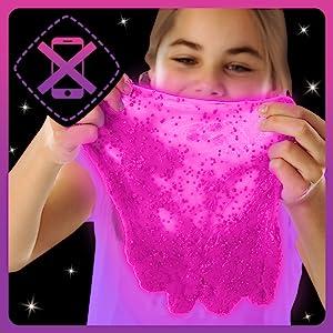 Kit Slime DIY Manualidades niñas niños regalo mini magico fluffy glow in the dark fosforescente