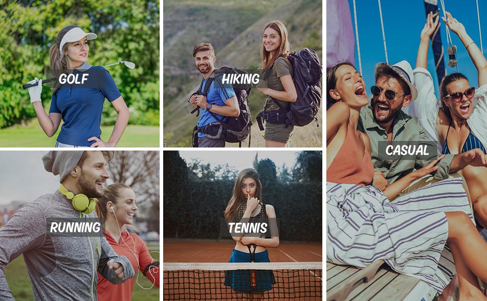Golf,Hikin,Tennis,Running,Casual