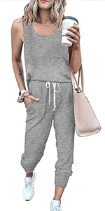 women overall jumpsuits casual summer sleeveless tank jumpsuits long rompers