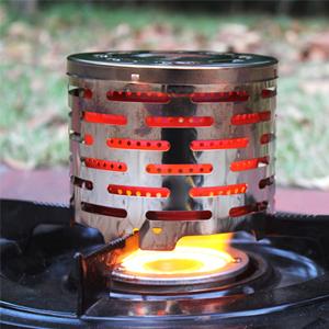 ZONSUSE Accesorio de Calefacción para Hornillo de Camping Calefacción de Gas Convertible Calentador de Estufa Portátil para Camping al Aire Libre, ...