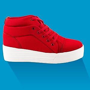 Women Red Sneaker Shoes