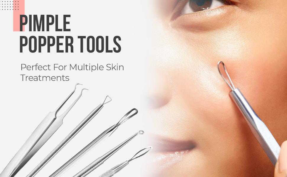 pimple popper tool, pimple popper tool kit, pimple popper tools, blackhead remover