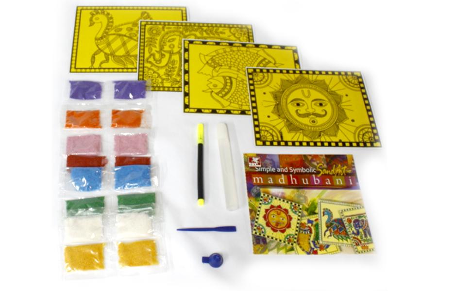 39467- Simple & Symbolic Sand Art Madhubani