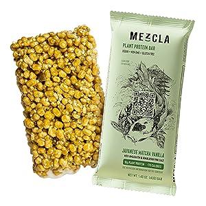 japanese matcha vanilla mezcla vegan protein bar