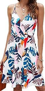 summer floral skater dress