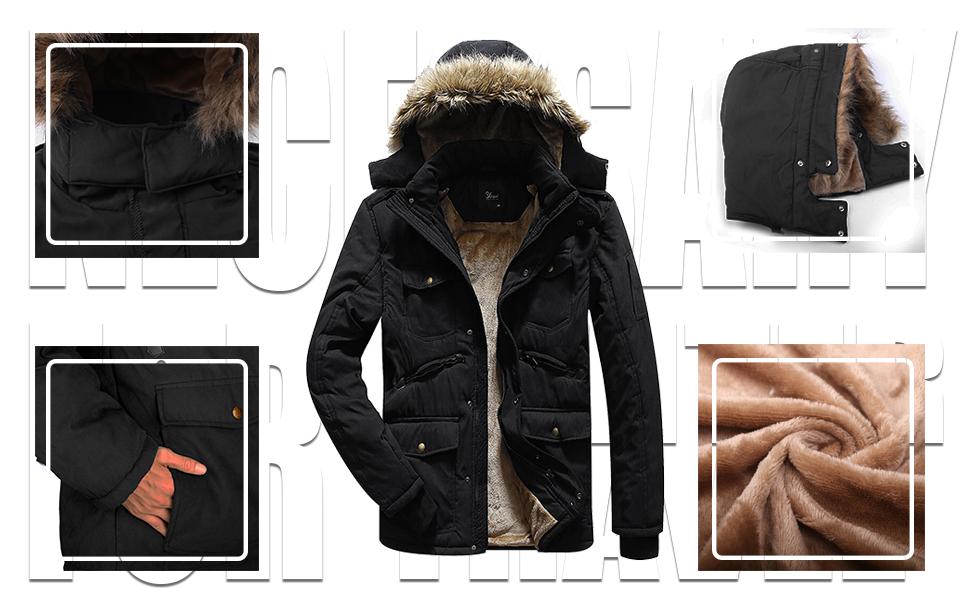 men fleece coat