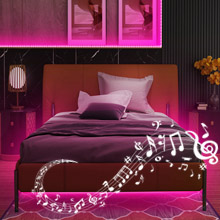 Wifi led strip lights Sync to music