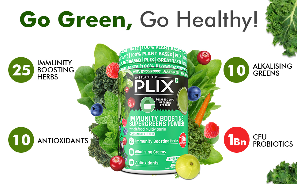 superfoods supergreens wholefoods multivitamin vegetables immunity boost digestion detox skin glow