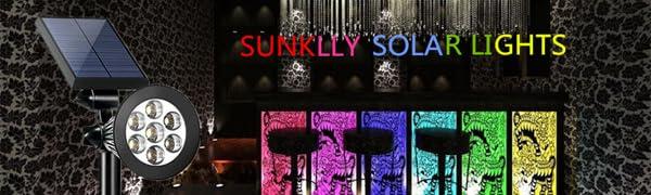 solar spotlights colorful
