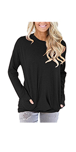 onlypuff Pocket Shirts for Women Short Sleeve Casual Loose Fit Tunic Top Comy