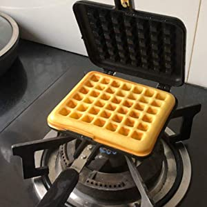 Baffect Stove Top Iron Waffle Maker
