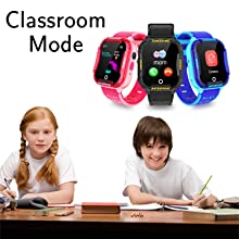 Kids Smartwatch GPS Tracker Phone Class mode students watched