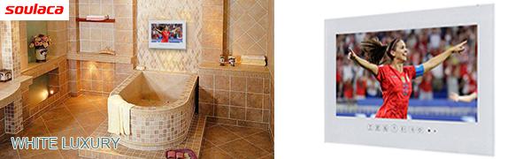 Smart White Bathroom LED TV