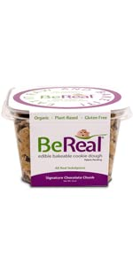 signature chocolate chunk cookie recipe by be real doughs plant based ready to eat cookie dough