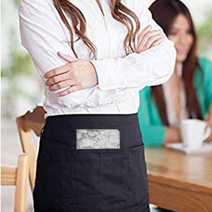 Server Books for Waitress Marble Texture  Waiter Book Server Wallet with Zipper Pocket Cute
