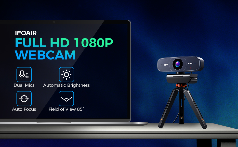 1080p streaming webcam with microphone