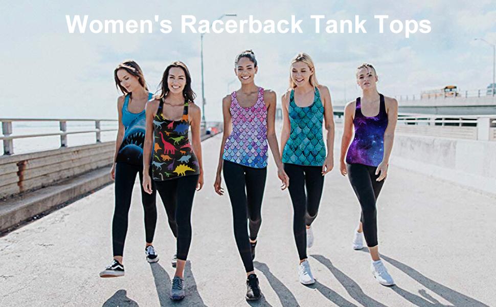 women racrback tank top