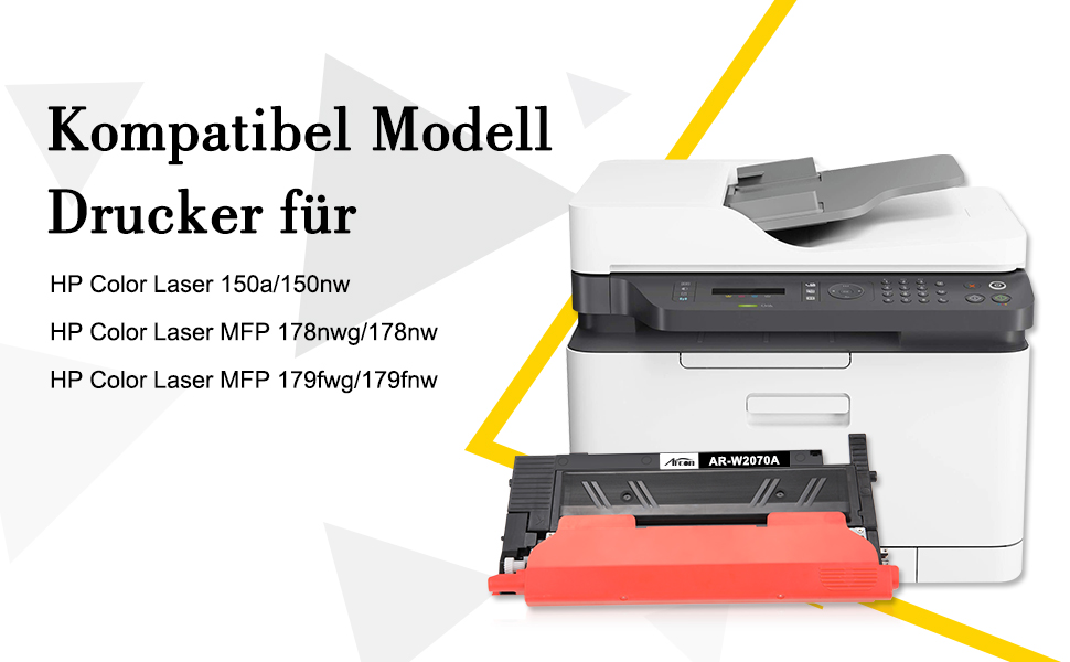 1 Schwarz // 1 Cyan // 1 Magenta // 1 Gelb ejet 117A Kompatible Tonerkartuschen f/ür HP 117A W2070A W2071A W2072A W2073A Toner f/ür HP Color Laser MFP 179fnw,MFP 178nw,MFP 178nwg,MFP 179fwg,150a,150nw