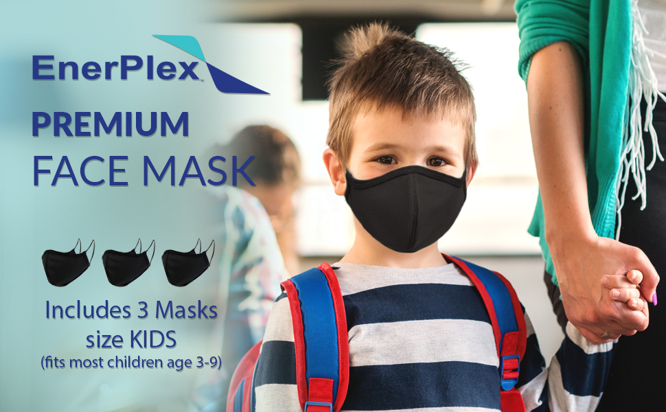 enerplex reusable premium face mask kids face mask for boys girls face fabric mask facial hair