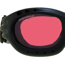 motorcycle biker goggles sun glasses shades red rose pink lens strap foam blocks wind