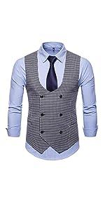 Mens Slim Fit Dress Vest Formal Premium Button Down Vest Mens Vest Waistcoat