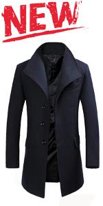 winter long slim fit wool coat