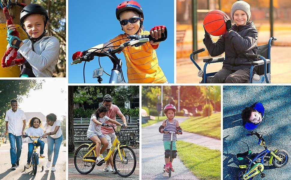 meteor Guantes de Ciclismo niñas y niños - Guantes Bicicleta para ...