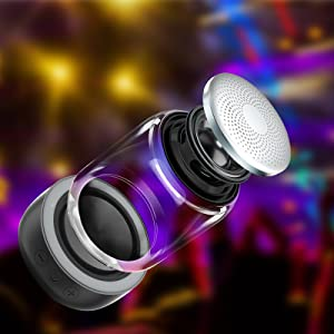 Mini & Portable Design  [2 Pack] Bluetooth Portable Speaker, True Wireless Stereo Speakers, Crystal Clear Stereo Sound, Rich Bass, 100 Ft Wireless Range, Microphone, LED Light Show, TF Card, Aux in, Mini Small Pocket Size¡ 7bf6d945 4398 4d3c 98ea 783b7add2d0c
