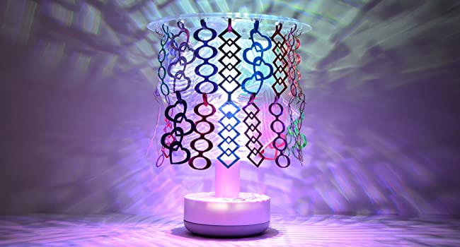 Deluxe Party Lamp Kit Sparkle Shade with 70 hanging customizable decorations LED light patterns