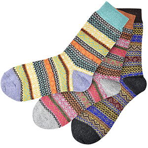 Colorful warm socks for her birthday gift