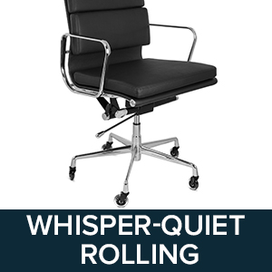 Mat Not Needed for These Office Chair Caster Wheels