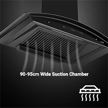 90-95cm wide suction chamber