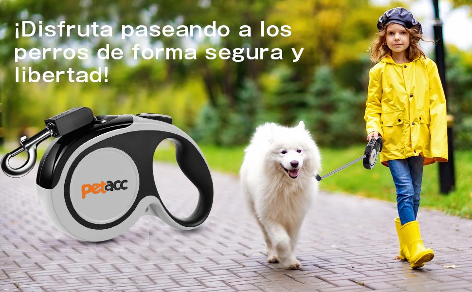 Petacc Correa de Perro Retráctil,Líneas de Rollo de 5M para Perros ...