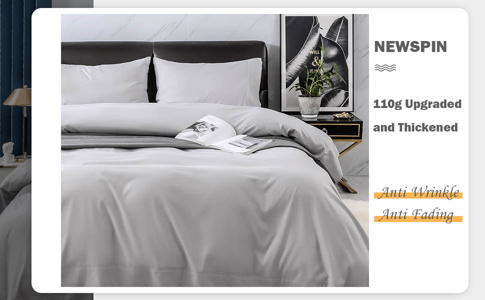 Stain Resistant. 1 Deep Pocket Fitted Sheet - 3Piece Brushed Microfiber Bed Sheet Set-1 Flat Sheet 1 Pillowcase-Soft Bed Sheets Wrinkle ZOYER Sheet Set Grey, Twin Fade