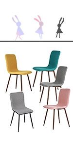 set of 4 fabric dining side chairs 1