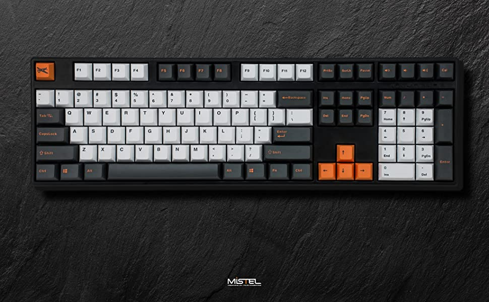 mistel barocco x-vlll mechanical keyboard wired computer pc